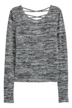 Fine-knit jumper - Black marl - Ladies | H&M 2