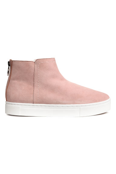 Scarponcini in pelle foderati - Rosa -  | H&M IT