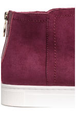 Lined suede boots - Burgundy - Ladies | H&M 4