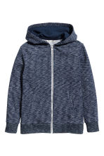 Hooded jacket - Dark blue marl -  | H&M CA 2