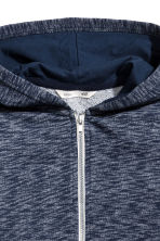 Hooded jacket - Dark blue marl -  | H&M CA 3