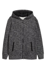 Hooded jacket - Black marl - Kids | H&M 2