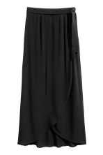 Long wrapover skirt - Black - Ladies | H&M 2