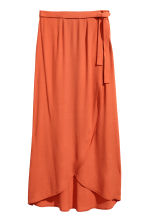 Long wrapover skirt - Orange - Ladies | H&M 2