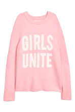 Knitted jumper - Light pink -  | H&M 2