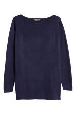 H&M+ Fine-knit jumper - Dark blue - Ladies | H&M IE 2