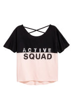 Sports top - Light pink - Kids | H&M 1