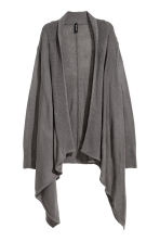 Fine-knit cardigan - Dark grey - Ladies | H&M CN 2