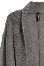 Fine-knit cardigan - Dark grey - Ladies | H&M CN 3