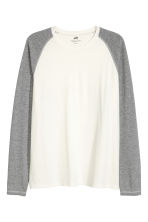 Baseball top - Natural white/Grey marl - Men | H&M CN 2
