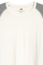 Baseball top - Natural white/Grey marl - Men | H&M CN 3