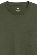 Long-sleeved top - Dark khaki green - Men | H&M 2