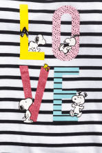 Top met lange mouwen - Wit/Snoopy -  | H&M BE 2