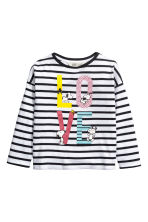 Top met lange mouwen - Wit/Snoopy -  | H&M BE 1