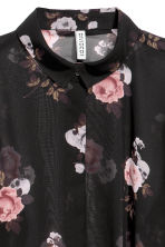 Chiffon shirt - Black/Floral - Ladies | H&M CN 3