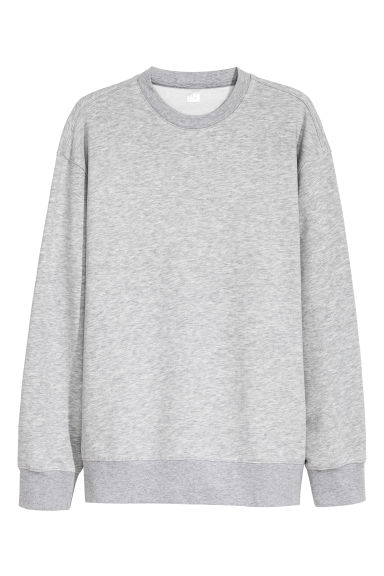 Oversized sweatshirt - Grey marl -  | H&M CN