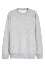 Oversized sweater - Grijs gemêleerd -  | H&M BE 2