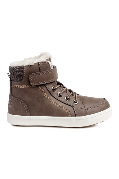 Pile-lined hi-tops - Dark mole - Kids | H&M