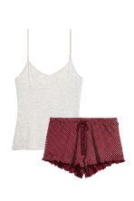Pyjama top and shorts - Pink - Ladies | H&M 2