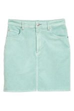Short velvet skirt - Mint - Ladies | H&M CN 2