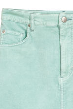 Short velvet skirt - Mint - Ladies | H&M CN 4