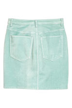 Short velvet skirt - Mint - Ladies | H&M CN 3
