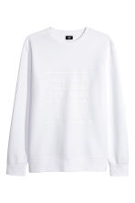 Printed sweatshirt - White - Men | H&M 2