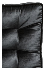 Velvet seat pad - Anthracite grey - Home All | H&M CN 3