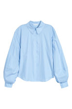 Cotton blouse - Light blue - Ladies | H&M CN 2