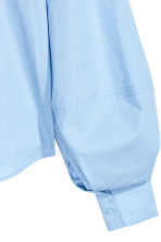 Cotton blouse - Light blue - Ladies | H&M CN 3