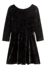 Long-sleeved velour dress - Black - Kids | H&M CN 2