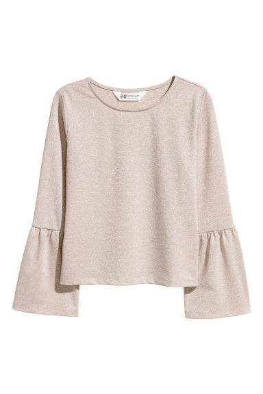 Top in jersey glitter - Beige - BAMBINO | H&M IT