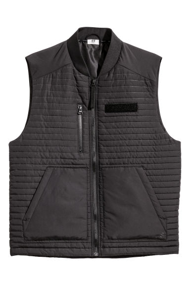 Padded sports gilet - Black - Men | H&M GB