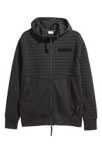 Hooded sports jacket - Black - Men | H&M CN 2