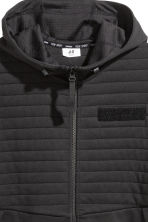 Hooded sports jacket - Black - Men | H&M CN 3
