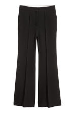 Flared trousers - Black - Ladies | H&M GB 2