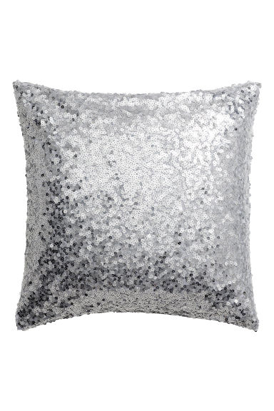 Sequined cushion cover - Silver-coloured -  | H&M CN