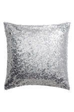 Sequined cushion cover - Silver-coloured - Home All | H&M IE 1