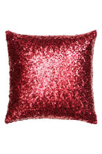 Sequined cushion cover - Dark red - Home All | H&M IE 1