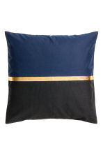 Block-patterned cushion cover - Dark blue/Gold-coloured - Home All | H&M IE 2
