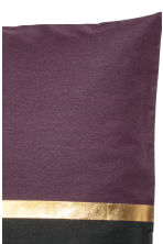 Copricuscino color block - Viola scuro/dorato - HOME | H&M IT 2