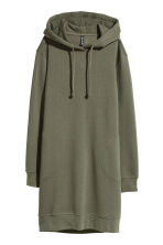 Hooded sweatshirt dress - Khaki green - Ladies | H&M 2