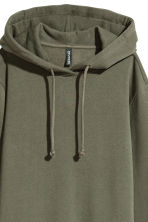 Hooded sweatshirt dress - Khaki green - Ladies | H&M 3