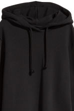 Hooded sweatshirt dress - Black - Ladies | H&M IE 3