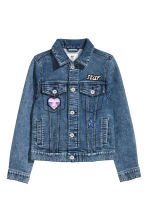 Denim jacket - Dark denim blue -  | H&M CN 2