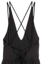 V-neck dress - Black - Ladies | H&M CN 4
