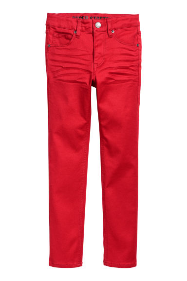 Pantalon super extensible - Rouge - ENFANT | H&M BE