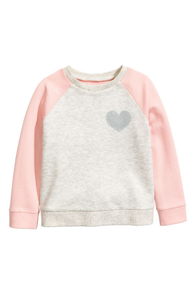 Sweatshirt - Light grey marl - Kids | H&M 1