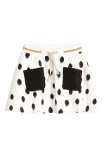 Sweatshirt skirt - White/Spotted - Kids | H&M CA 2