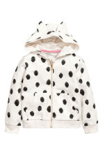 Patterned hooded jacket - White/Spotted - Kids | H&M 2